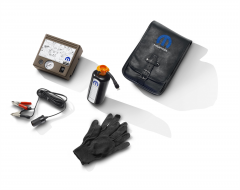 Tyre inflator kit with air compressor