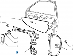 Left window regulator for Fiat and Fiat Professional
