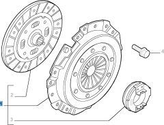 Clutch kit (clutch disc, pressure plate and release bearing) for Lancia Ypsilon