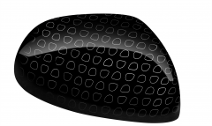 Wing Mirrors Caps In Black With Technics Effect