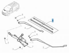 Frontal Windscreen Wiper Blades (Set of 2) for Fiat Professional Talento