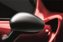 Satin chrome mirror caps cover for Alfa Romeo 4C