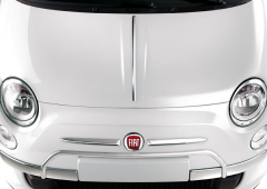 Chrome protectors on front bumper for Fiat 500
