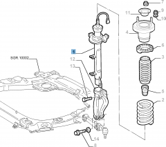 Front left shock absorber for Lancia Thesis