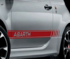 Abarth side stripes: Red