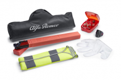 Safety kit with triangle and reflective vest for Alfa Romeo Giulietta