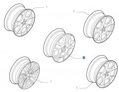 Alloy wheel 7J x 17'' for Alfa Romeo 147