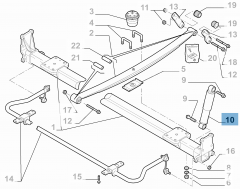 Rear shock absorber for Fiat and Fiat Professional