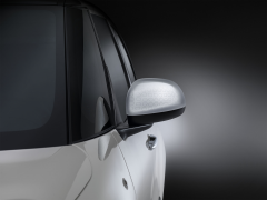 Silve Wing Mirror Caps With Outline Technics Effect