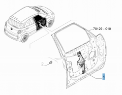 Front left window regulator for Fiat 500L