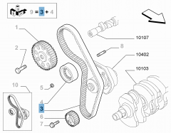 Timing belt for Fiat and Fiat Professional
