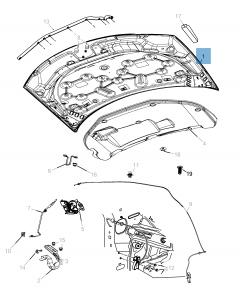 Bonnet for Lancia Flavia