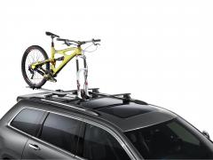 Bike carrier on roof racks