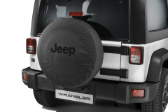 Spare tyre cover with black Jeep logo
