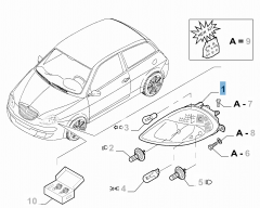 Front left headlamp for Lancia Ypsilon