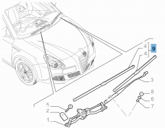Kit 2 spazzole tergicristalli anteriori per Giulietta