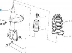Front shock absorber for Fiat Doblo