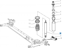 Rear shock absorber for Fiat Palio