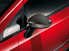 Carbon design car mirror covers for Fiat