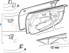 Complete right side door for Fiat Barchetta (1995-2004)
