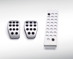 Aluminium sport pedal set for manual transmission