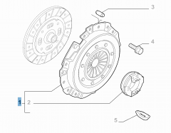 Clutch kit (pressure plate and release bearing) for Fiat Professional Ducato