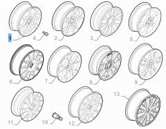Alloy wheel 6.5J x 16'' H2 ET 35 for Abarth 500