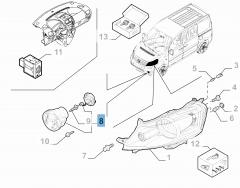 Fog light for Fiat Professional Scudo
