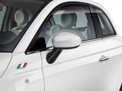 White mirror caps covers for Fiat 500