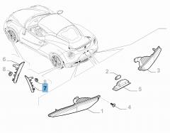 Rear left side direction indicator lamp for Alfa Romeo 4C