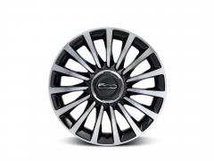 Set of 17'' diamond design black alloy wheels