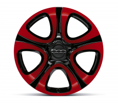 18'' Alloy Wheels Kit In Bicolour Black And Red
