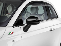 Black mirror caps covers for Fiat 500