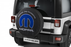 Spare tyre cover with Mopar logo