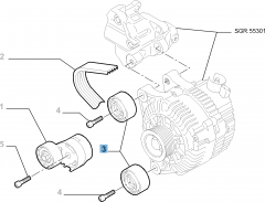 Fixed tensioner for Fiat Professional Scudo