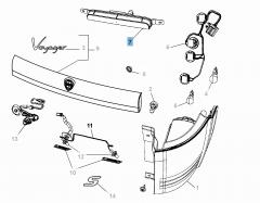 Tail lamp for Lancia Voyager