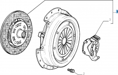 Clutch kit (clutch disc, pressure plate and release bearing) for Fiat Idea