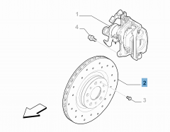 Rear brake disc for Alfa Romeo 4C