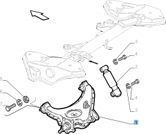 Left control arm for Fiat and Fiat Professional