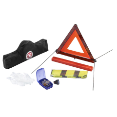 Safety kit with triangle and reflective vest for Fiat 500X