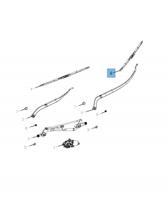 FRONT WINDSCREEN WIPER BLADE FOR JEEP COMPASS (LEFT)
