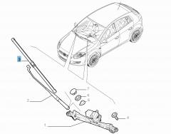 Frontal Windscreen Wiper Blades (Set of 2)