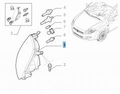 Left headlamp for Fiat Bravo