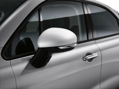 White mirror covers backing caps for Fiat 500X