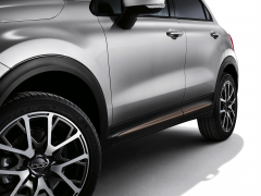 Bronze side trims for doors for Fiat 500X