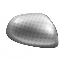 Silver Wing Mirror Caps With Full Technics Effect