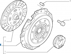 Clutch kit (clutch disc, pressure plate and release bearing) for Fiat Professional Ducato