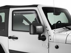 Front doors wind deflectors