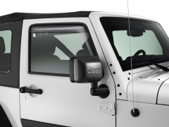 Paintable mirror caps with Jeep logo
