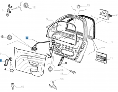 Front left window regulator, manual for Fiat and Fiat Professional